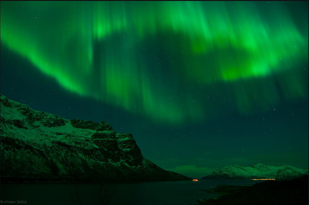 Beautiful aurora over Norway