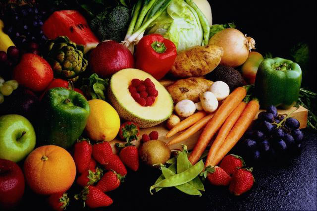 Several flavonoid-rich fruits and vegetables